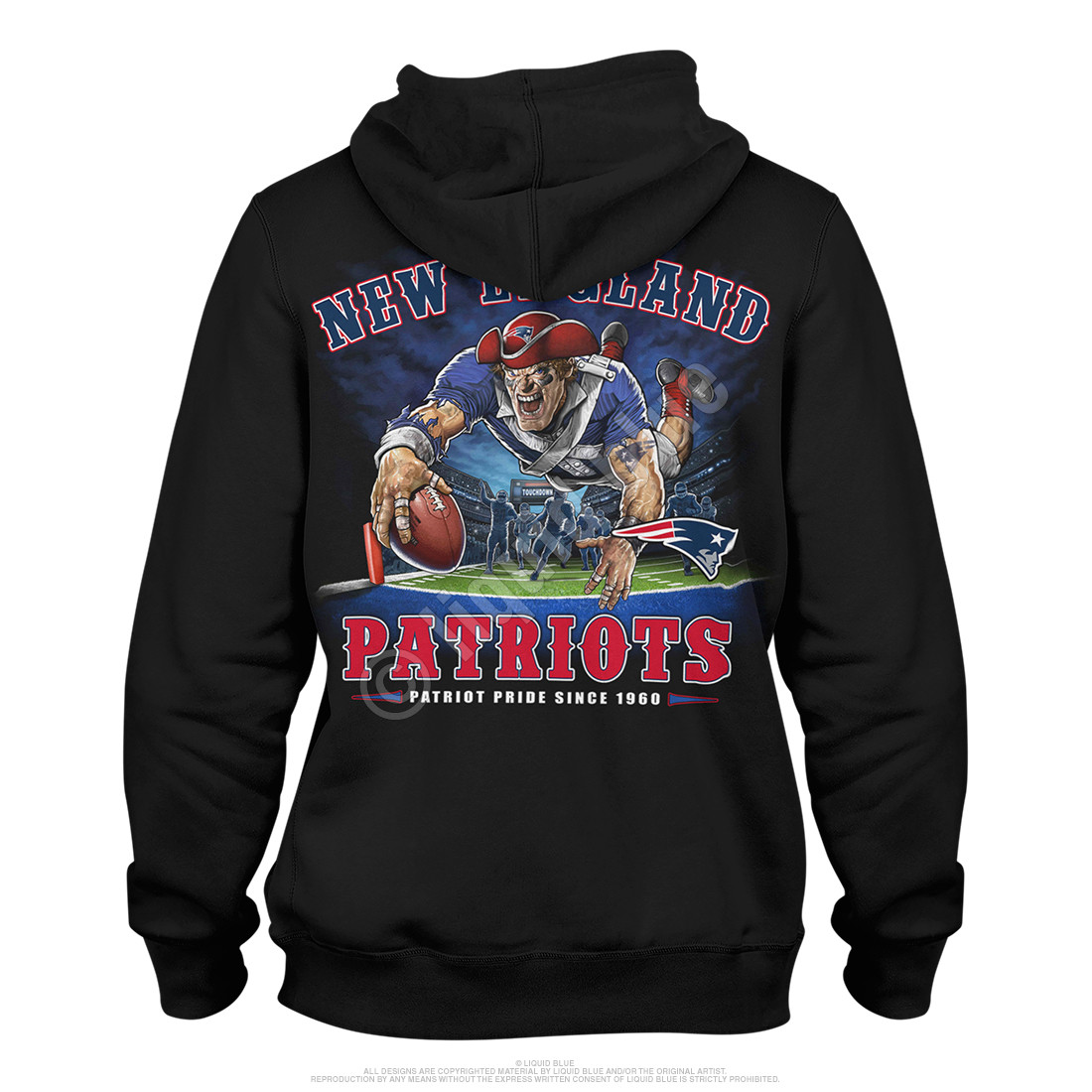 New England Patriots End Zone Black Hoodie