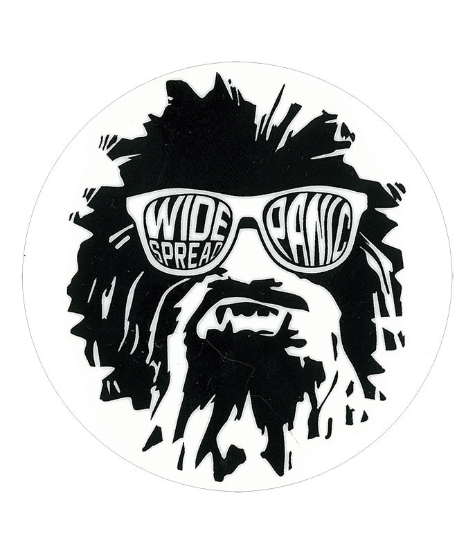 WIDESPREAD PANIC WUKEE GLASSES WHITE STICKER