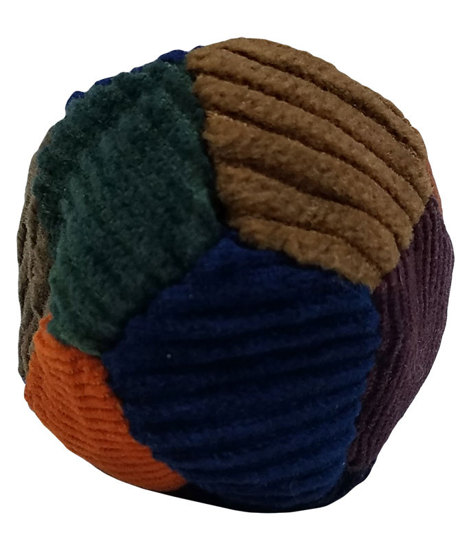 12 Panel Corduroy Patchwork Hacky Sack Assorted