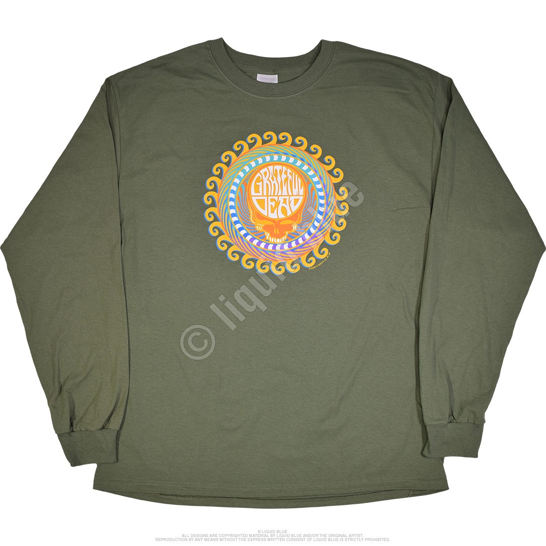 GD Orange Sunshine Green Long Sleeve T-Shirt