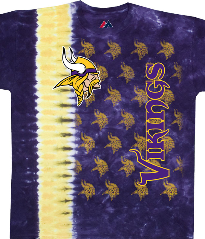 Minnesota Vikings Vertical Tie-Dye T-Shirt