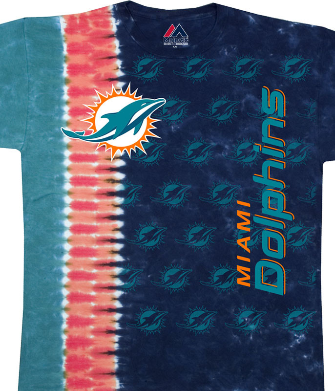 Miami Dolphins Vertical Tie-Dye T-Shirt