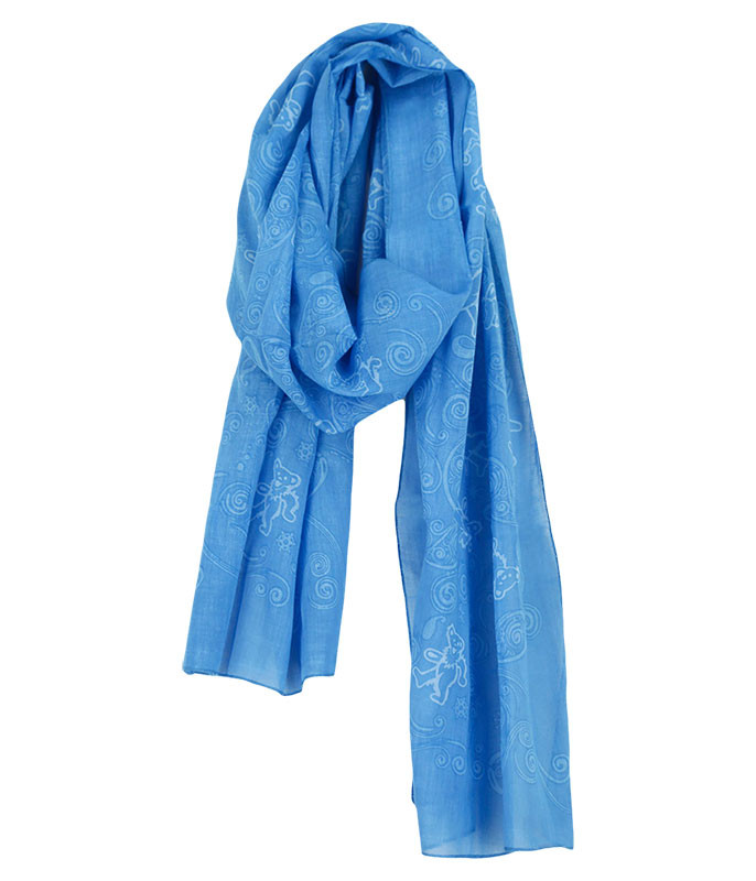 GD Long Bear Blue Scarf