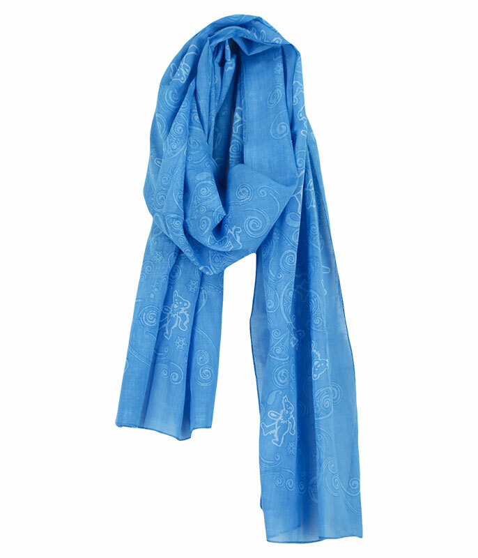 Grateful Dead GD Long Bear Blue Scarf