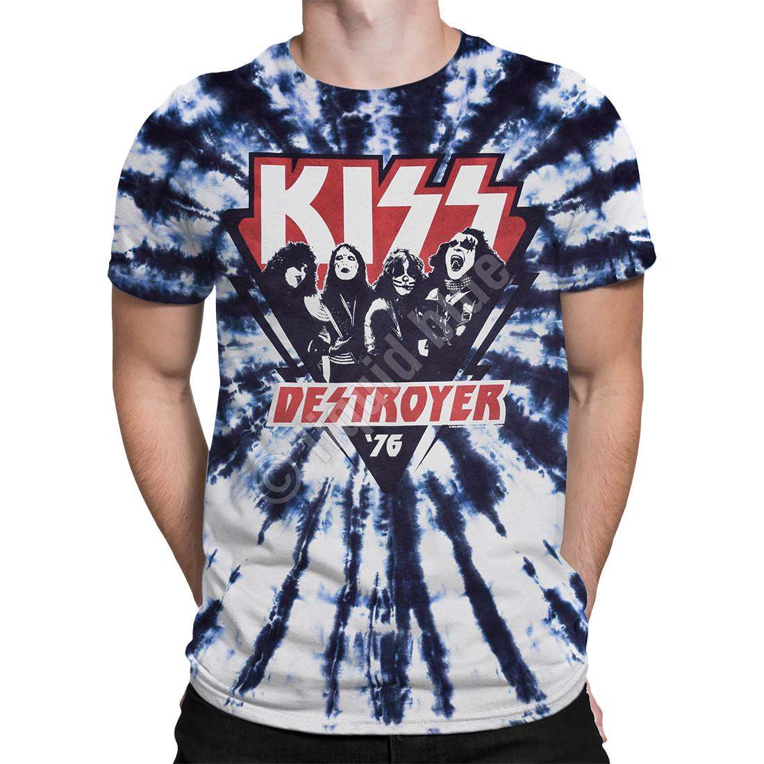 '76 Tee Tie T Destroyer Dye Kiss Liquid Shirt Blue eE9YWDHIb2