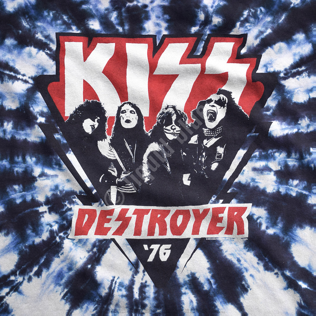 KISS Destroyer '76 Tie-Dye T-Shirt