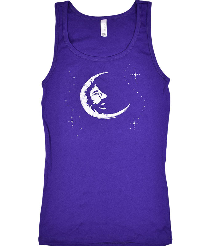 Jerry Garcia Jerry Moon Purple Juniors Tank Top T-Shirt Tee