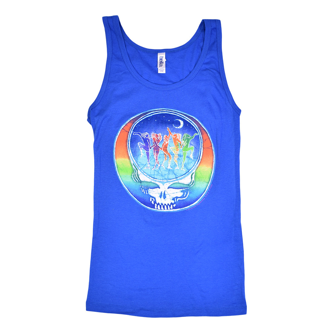 GD Dancing Face Blue Juniors Tank Top T-Shirt