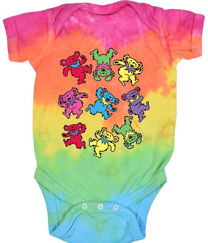 Spiral Bears Tie-Dye Onesie