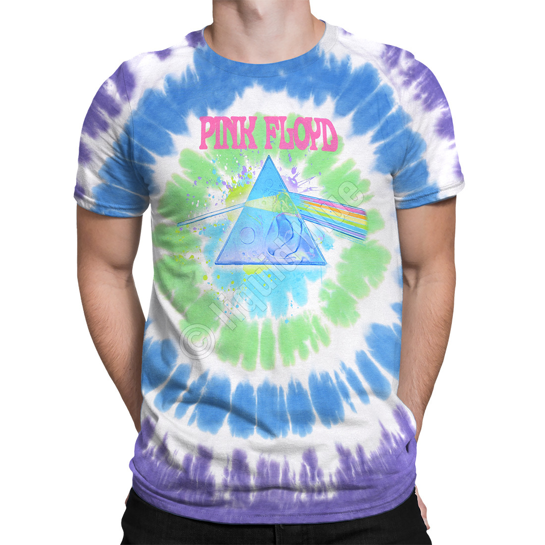 Dark Side Oil Paint Tie-Dye T-Shirt