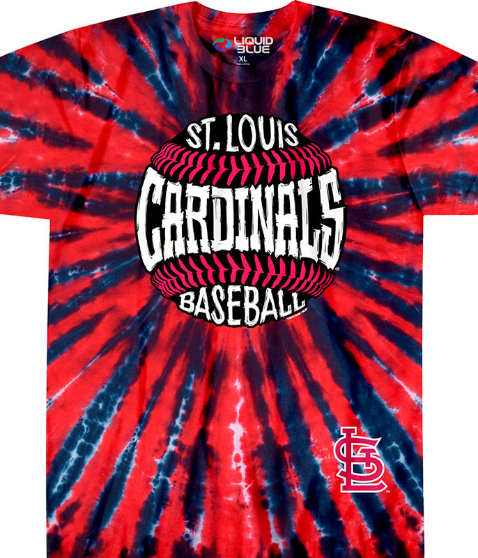 ST. LOUIS CARDINALS BURST TIE-DYE T-SHIRT