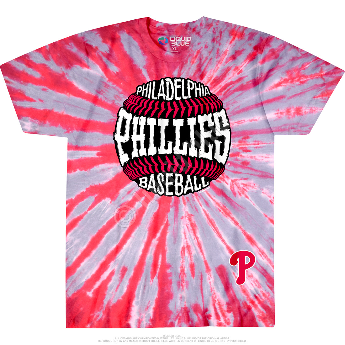 Philadelphia Phillies Burst Tie-Dye T-Shirt
