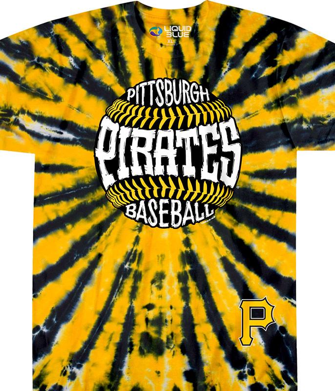 Pittsburgh Pirates Burst Tie-Dye T-Shirt