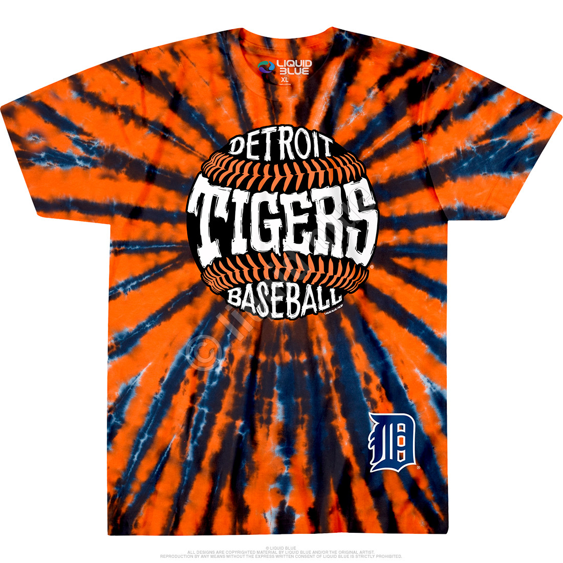 Detroit Tigers Burst Tie-Dye T-Shirt