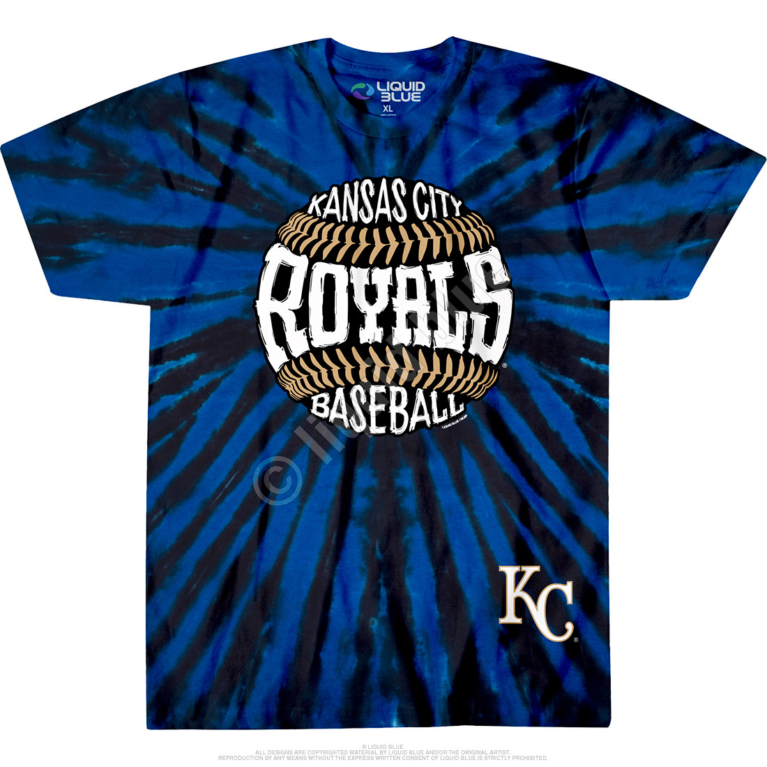 Kansas City Royals Burst Tie-Dye T-Shirt