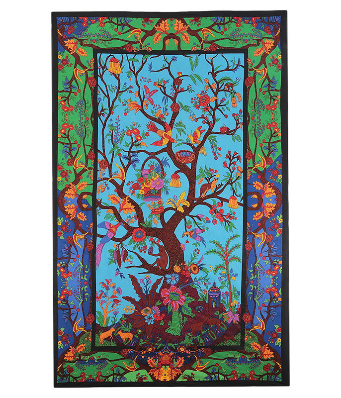 Colorful Tree of Life 3D Tapestry