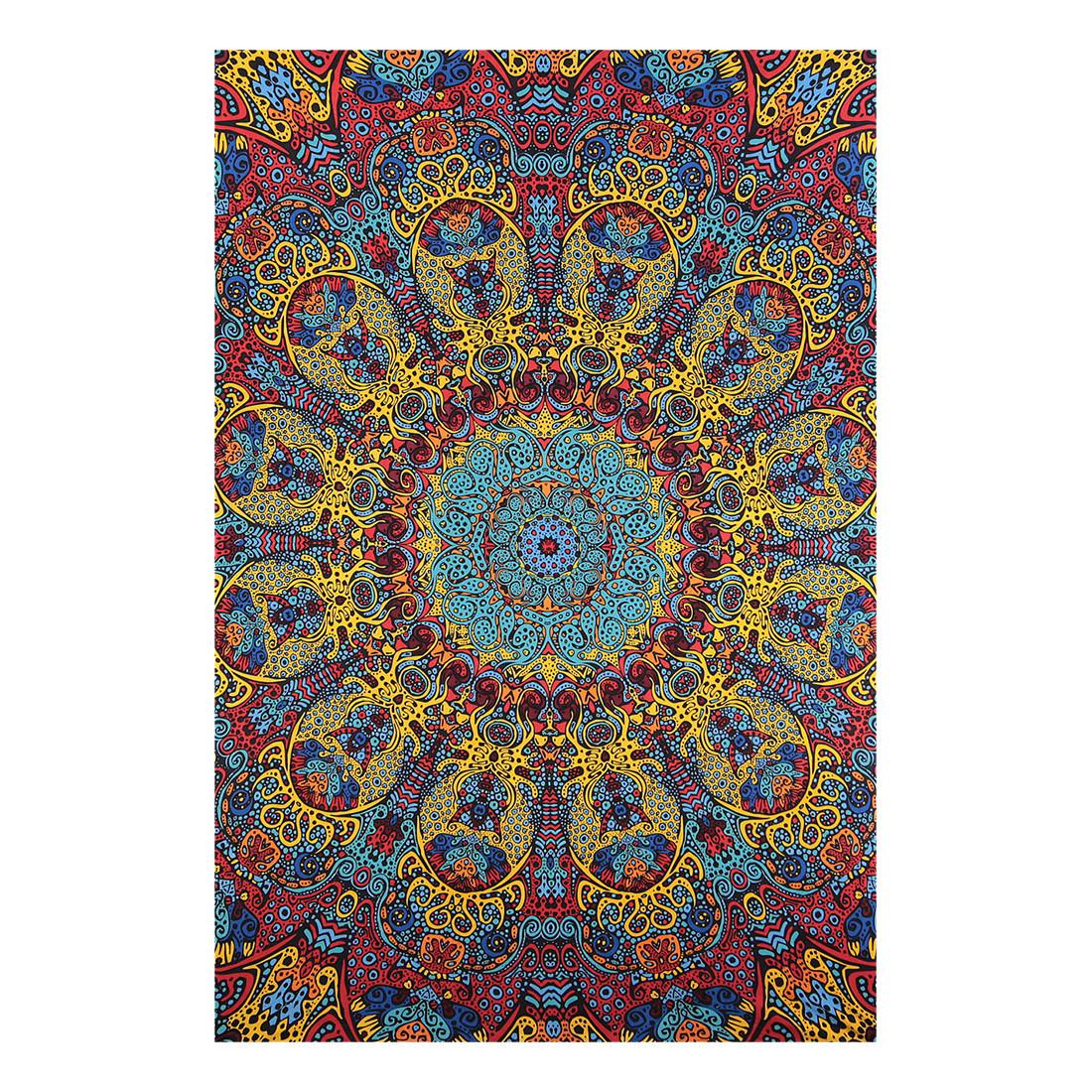 Psychedelic Sunburst 3D Tapestry