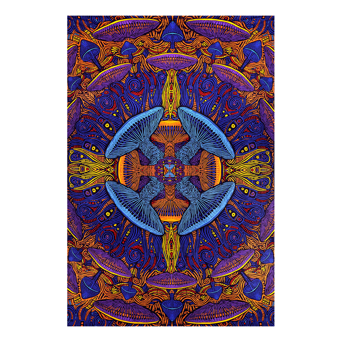 Magic Mushroom 3D Tapestry