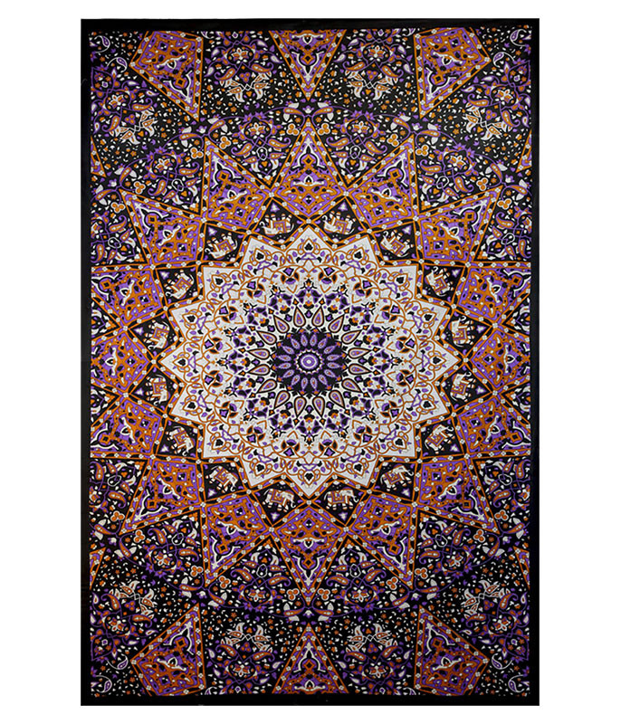 INDIA STAR 3D GLOW IN THE DARK TAPESTRY