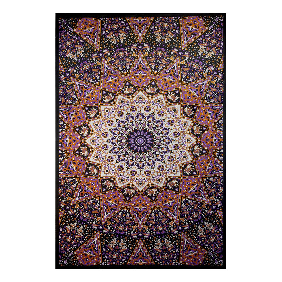India Star Glow in the Dark  3D Glow in the Dark Tapestry