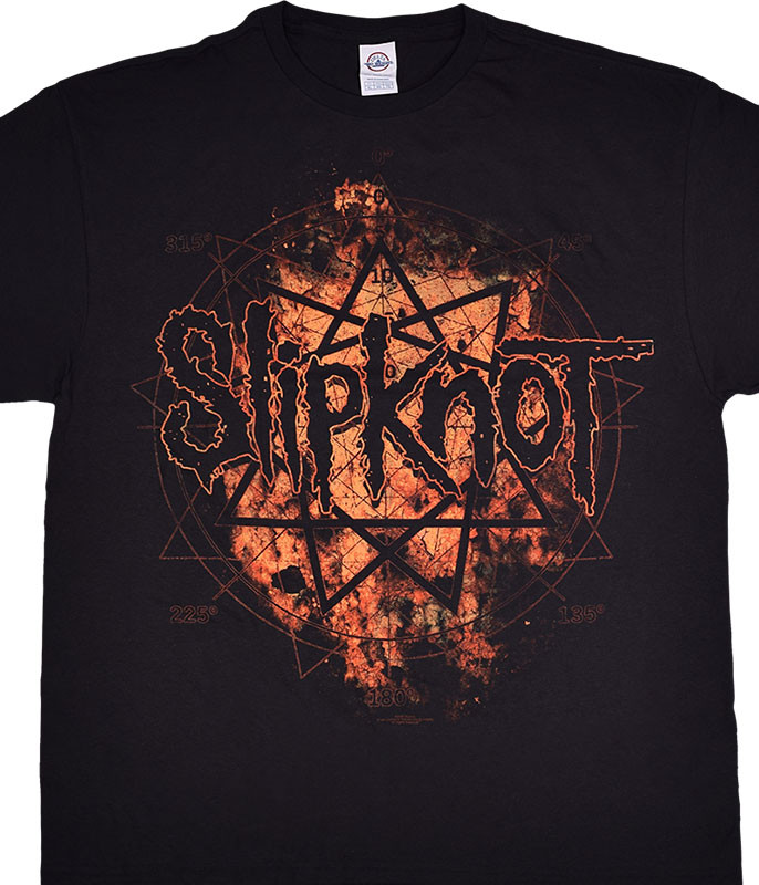 Slipknot Radio Fire Black T-Shirt Tee