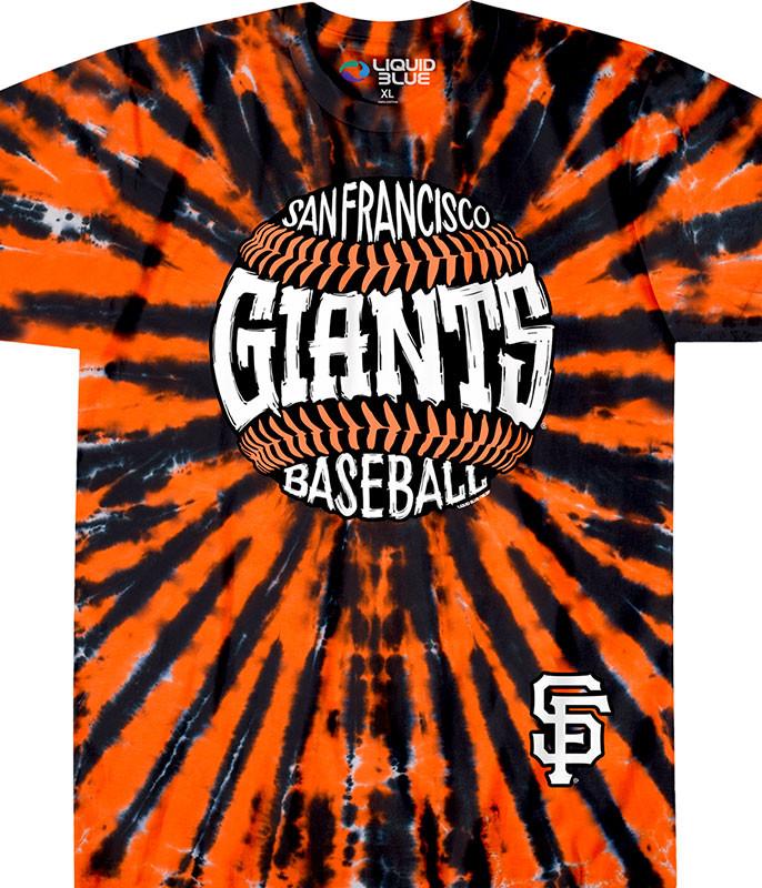 San Francisco Giants Burst Tie-Dye T-Shirt
