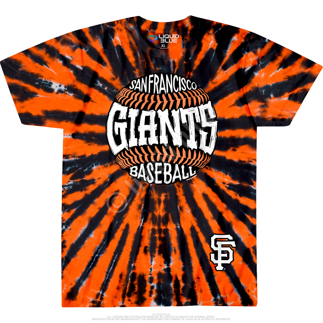 San Francisco Giants Burst Tie-Dye T-Shirt