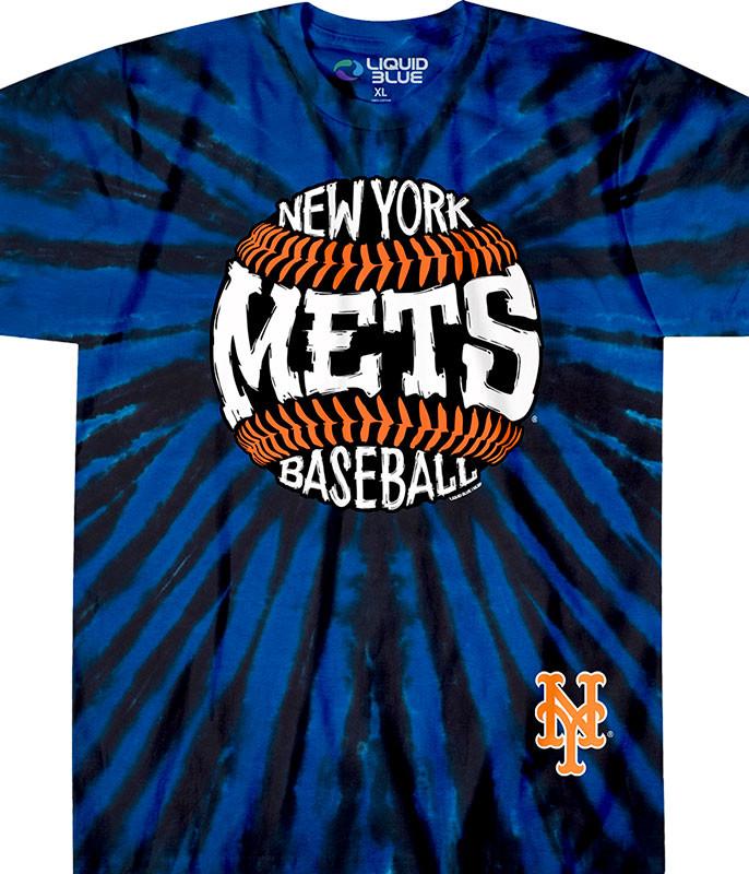 New York Mets Burst Tie-Dye T-Shirt