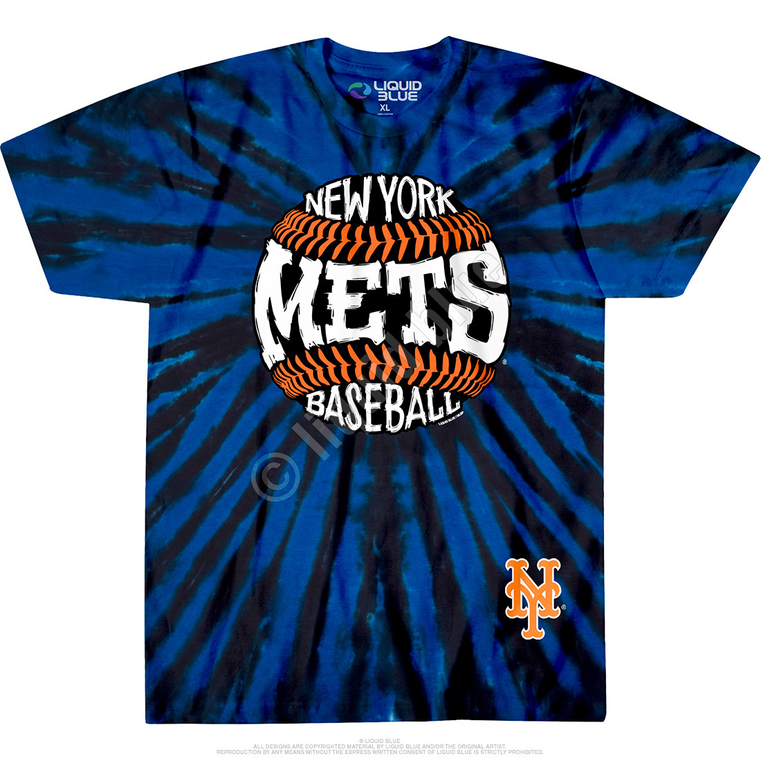 New York Mets Burst Tie-Dye T-Shirt