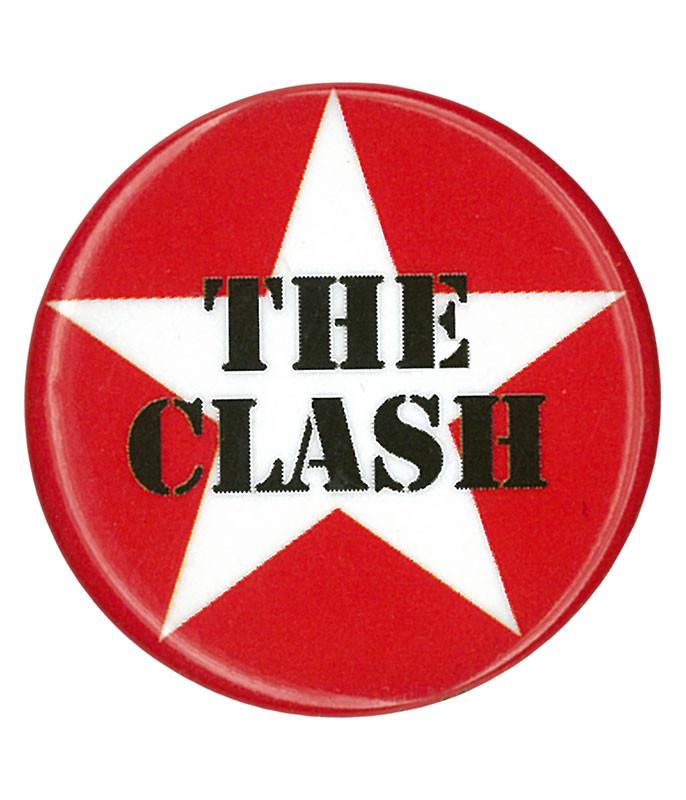The Clash Star Logo Pin