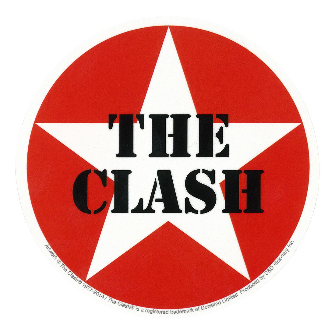 The Clash Star Logo Sticker