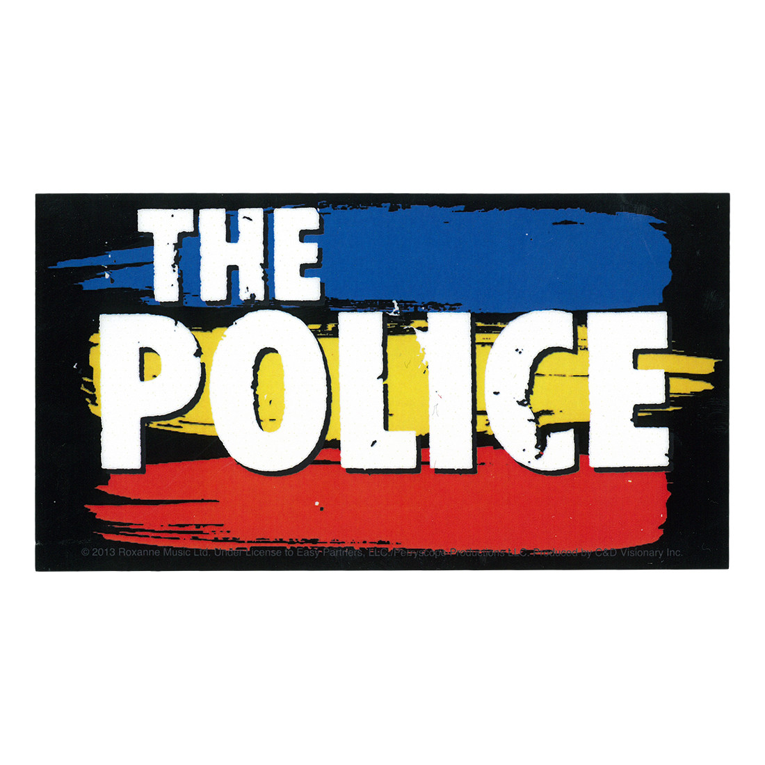 The Police Striped Logo Sticker