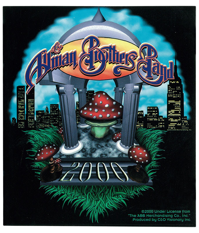 Allman Brothers Temple Sticker