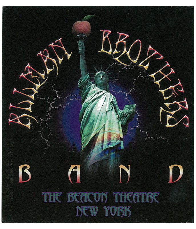 ALLMAN BROTHERS LIBERTY LIGHTNING STICKER