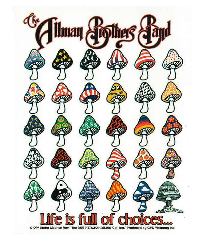 Allman Brothers Life is Full of Choices Sticker