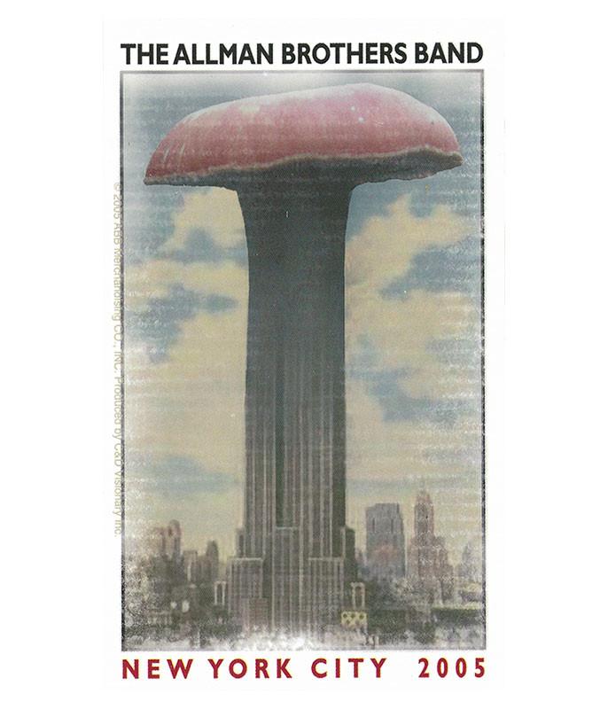 Allman Brothers Empire Shroom Sticker