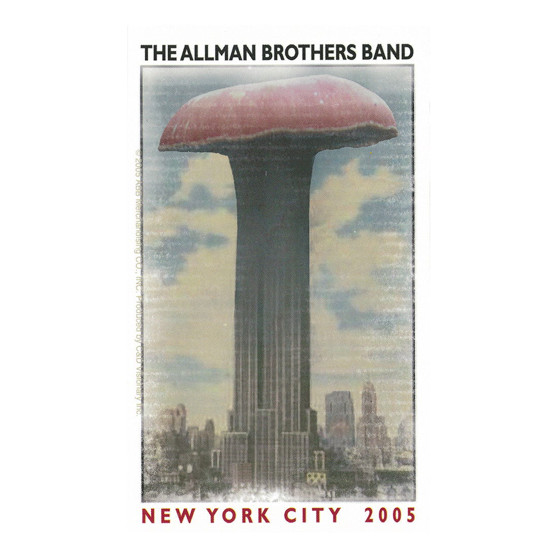 Allman Brothers Empire Shroom Sticker