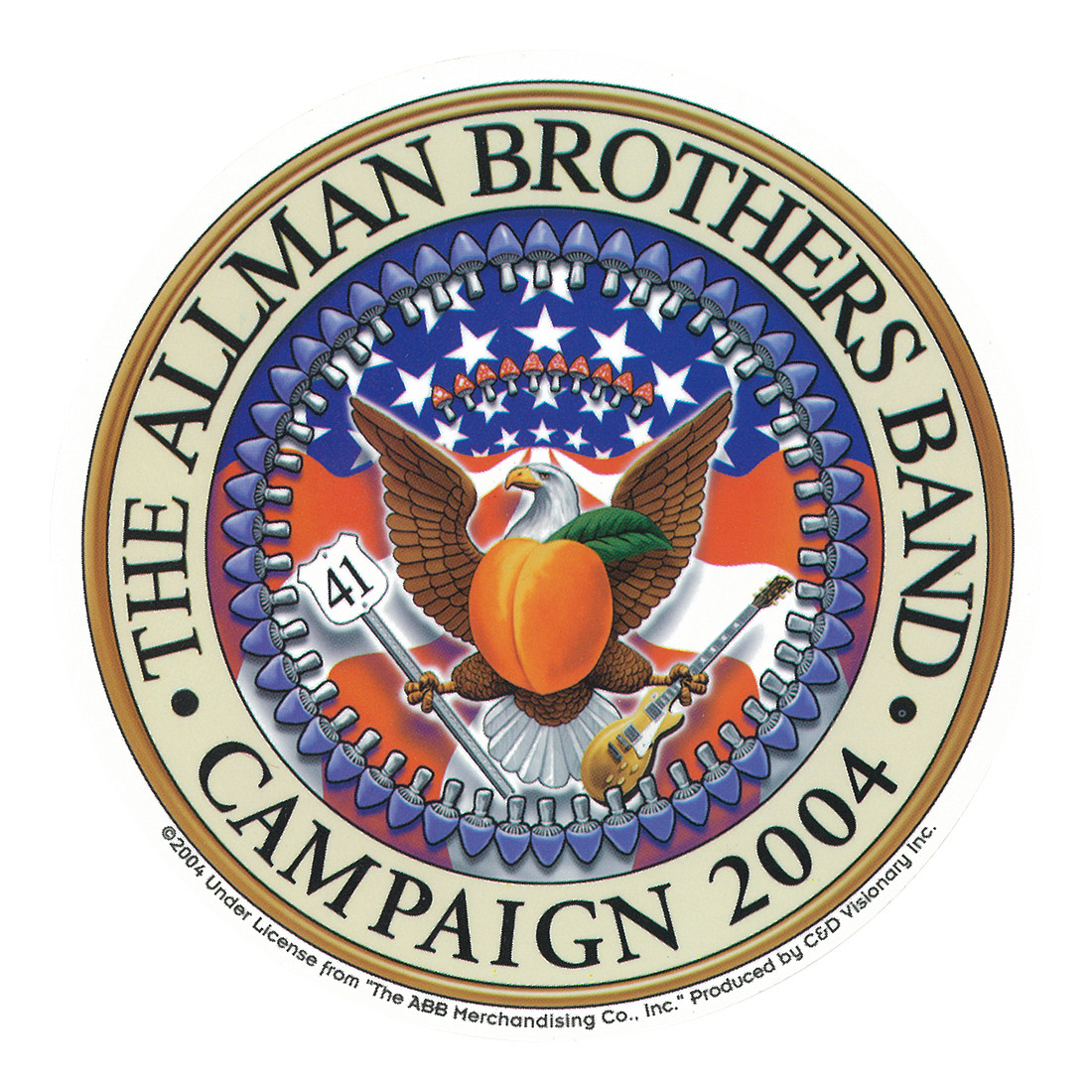 Allman Brothers Seal Sticker