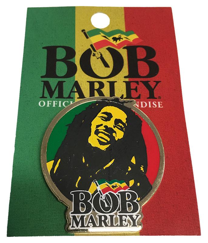 Bob Marley Circular Enamel Pin