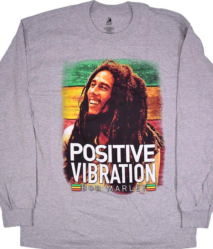 Marley Positive Vibrations Heather Grey Long Sleeve T-Shirt