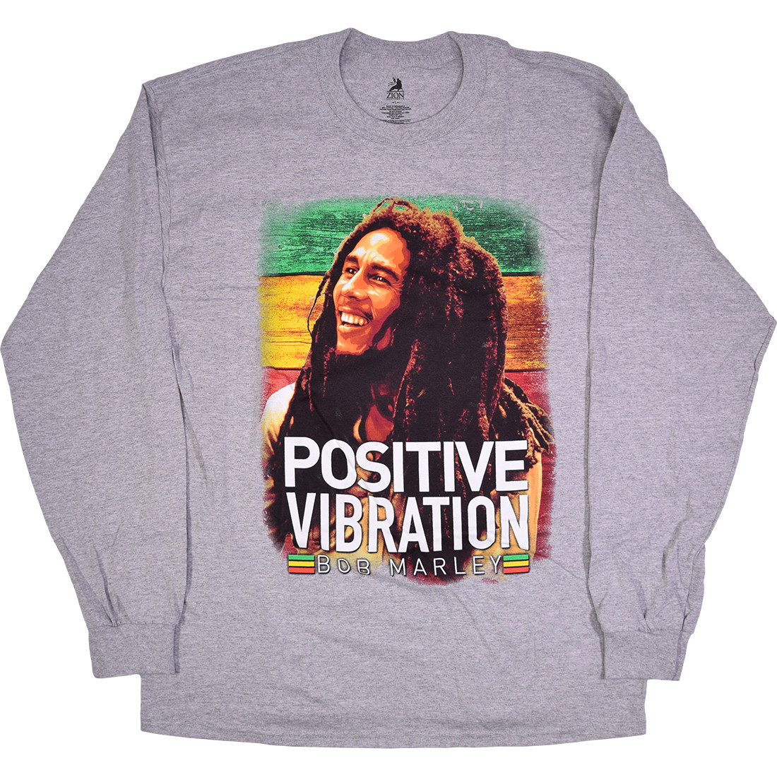 Marley Positive Vibrations Heather Grey Long Sleeve T-Shirt