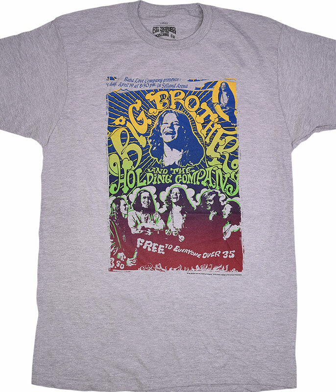 Big Brother Vintage Handbill Heather Grey Poly-Cotton T-Shirt
