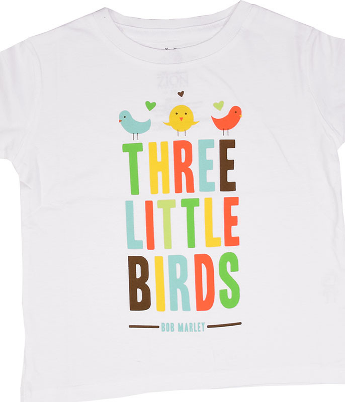 Bob Marley Bird Hearts Toddler White T-Shirt Tee