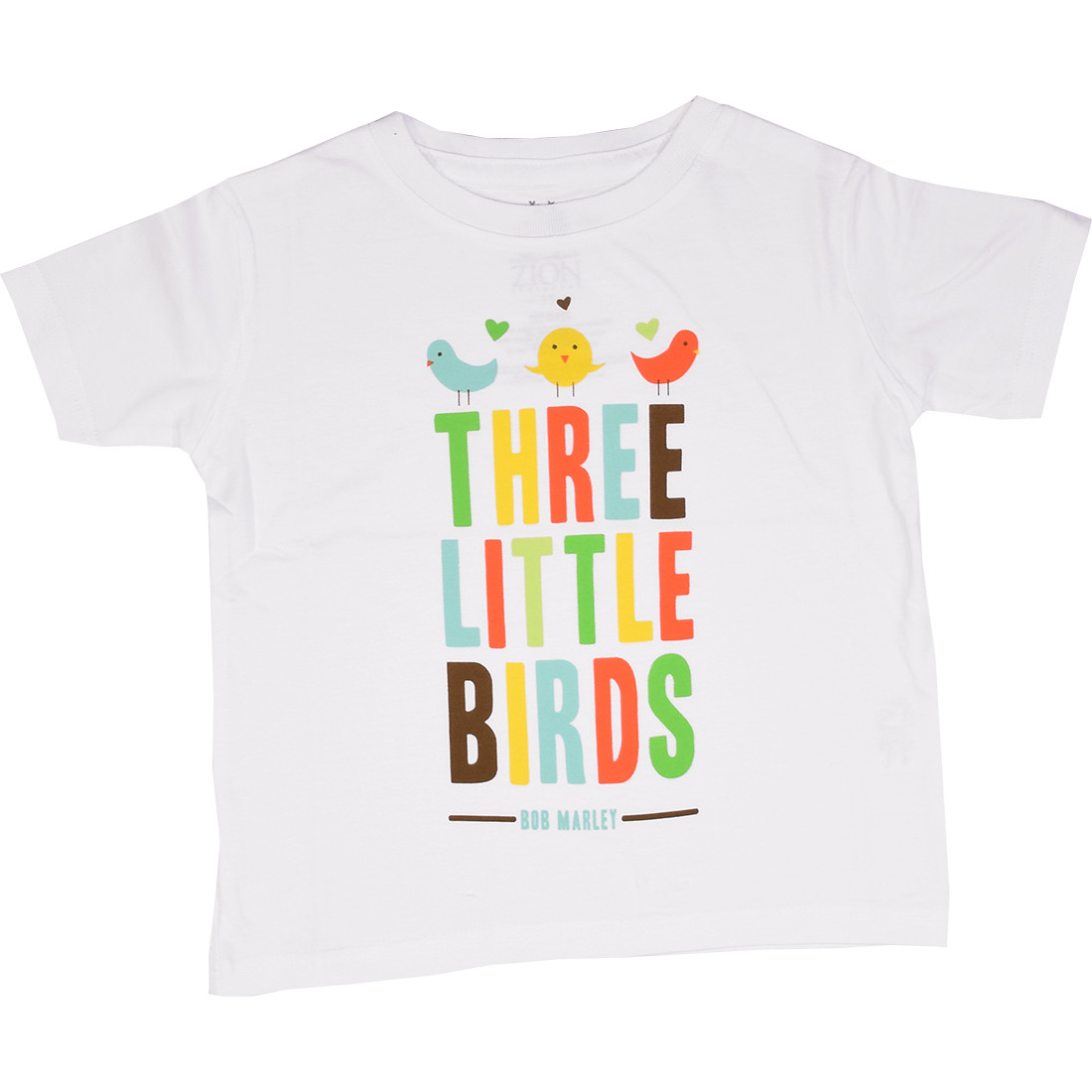 Marley Bird Hearts Toddler White T-Shirt