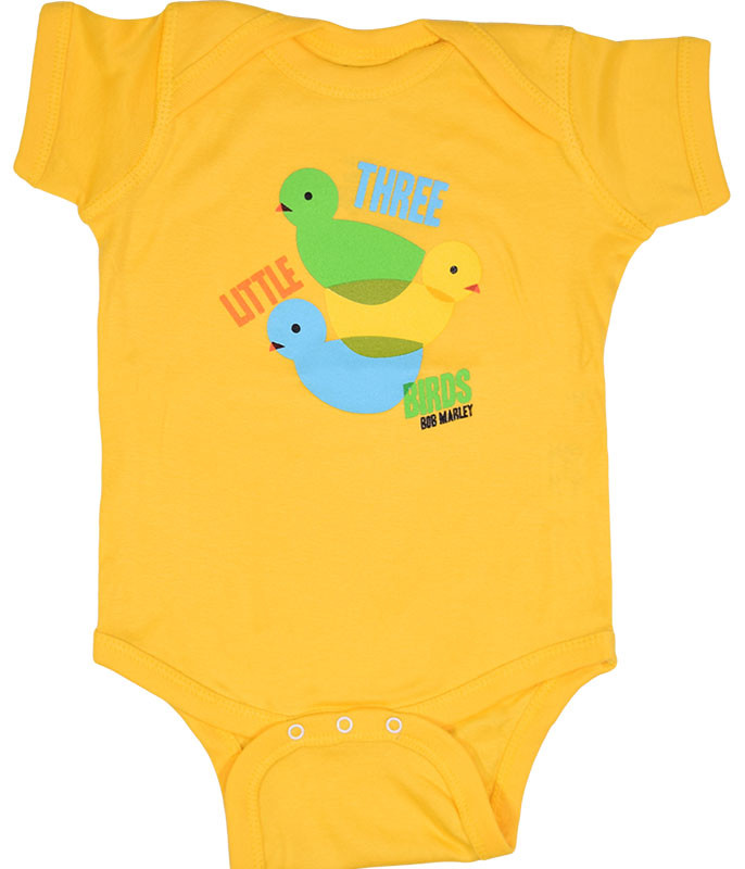 MARLEY 3 LIL' BIRDS YELLOW ONESIE