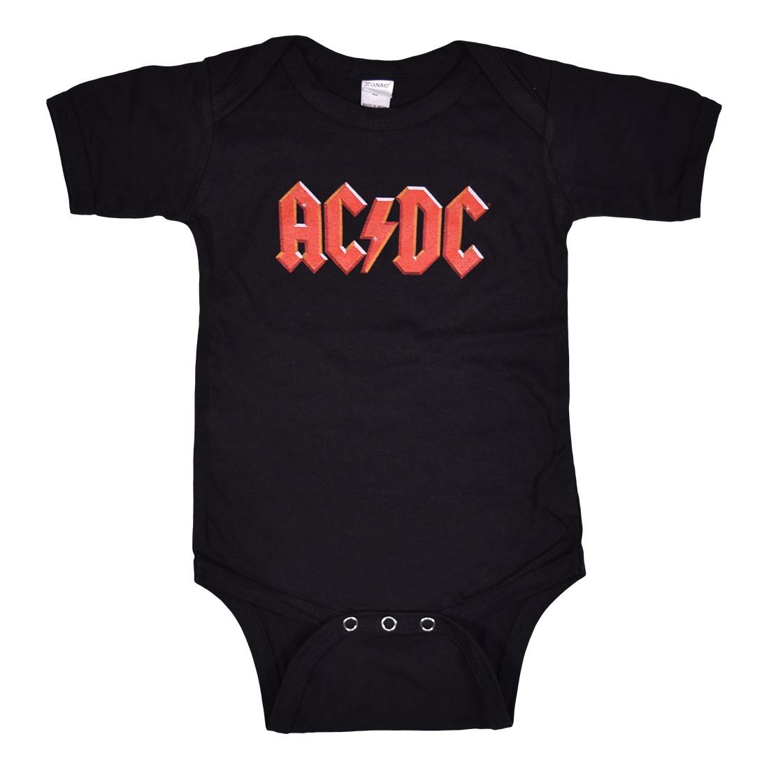 AC/DC Logo Black Onesie Clearance 30% OFF