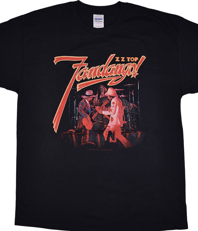 ZZ Top Fandango! Black T-Shirt Tee Liquid Blue