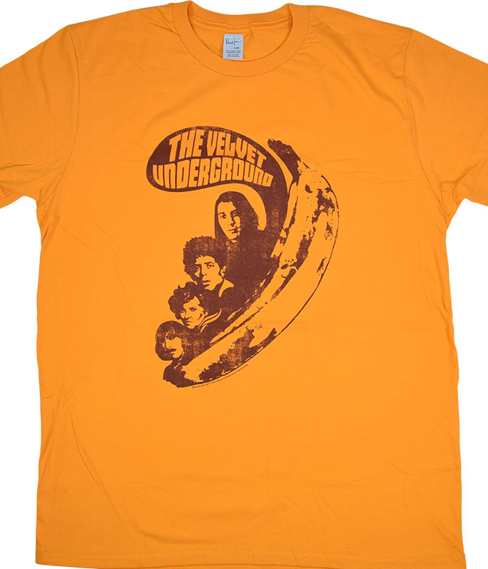 VELVET UNDERGROUND VU SAYS YELLOW T-SHIRT