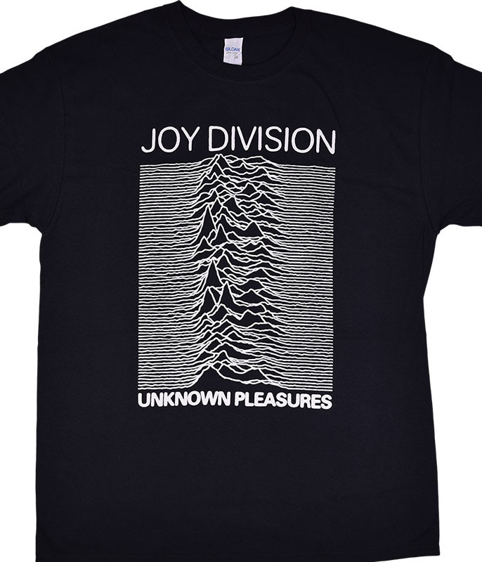 JOY DIVISION UNKNOWN PLEASURES BLACK T-SHIRT