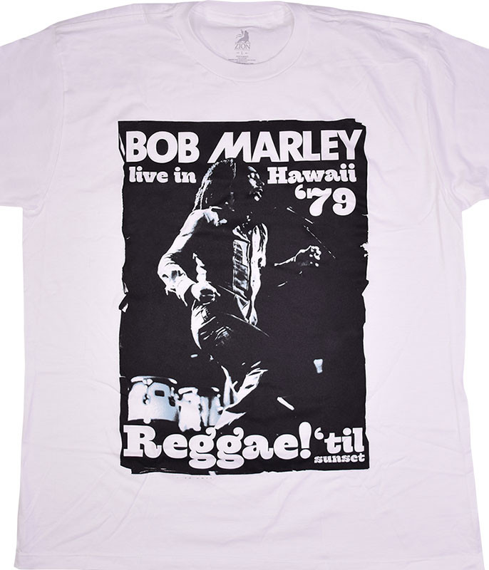 Bob Marley Live in Hawaii White T-Shirt Tee
